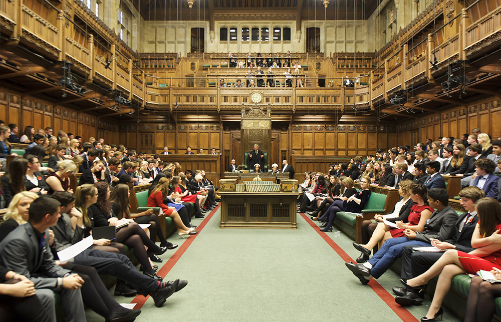 UK Youth Parliament in Session