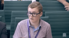 Giving evidence at the 2015 Youth Select Committee
